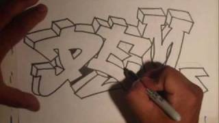 Repeat youtube video Drawing Graffiti (Requested)- By Wizard
