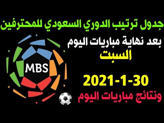 ترتيب الدوري السعودي للمحترفين بعد نهاية مباريات اليوم الجولة 16 Youtube