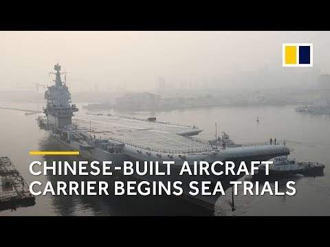 First video: China's new aircraft carrier begins sea trials