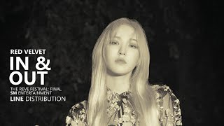 Gambar cover RED VELVET 레드벨벳 - IN & OUT | Line Distribution