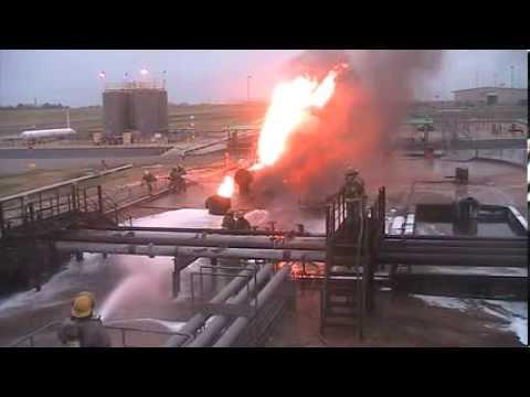 Firefighting a Mock Oilfield Fire in Texas 2013