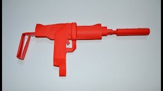 How to make a uzi paper gun with a silencer - DIY - paper toy - origami