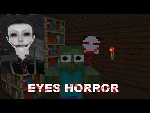 Monster School: EYES THE HORROR GAME CHALLENGE - Minecraft Animation