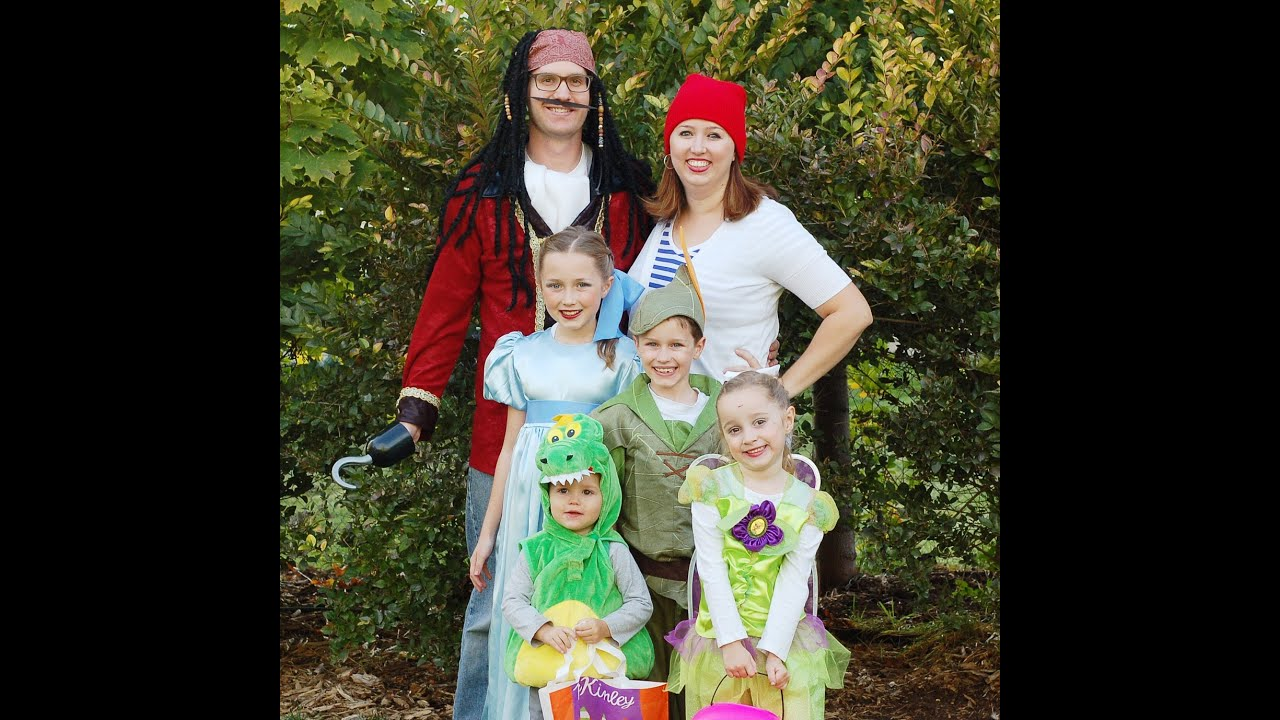 peter pan family theme halloween costumes the fleglets youtube