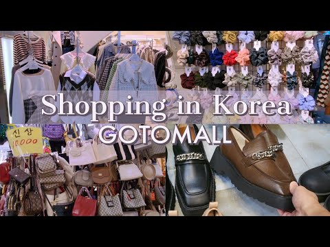 Korea Autumn Fashion Hunt, trendy bags, shoes & accessories at Gotomall | Shopping in Korea Vlog