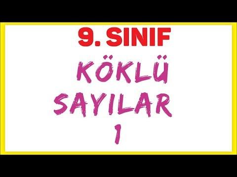 9. Sinif Köklü Sayilar 1 Şenol Hoca Matematik