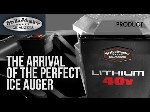 StrikeMaster® Lithium 40V Ice Auger drills 100 holes on a single charge