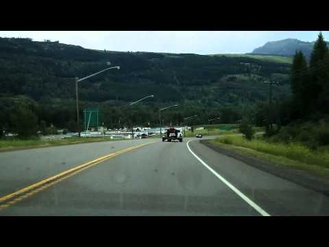 Ultralapse Cranbrook BC to Lethbridge Alberta over the crowsnest pass.