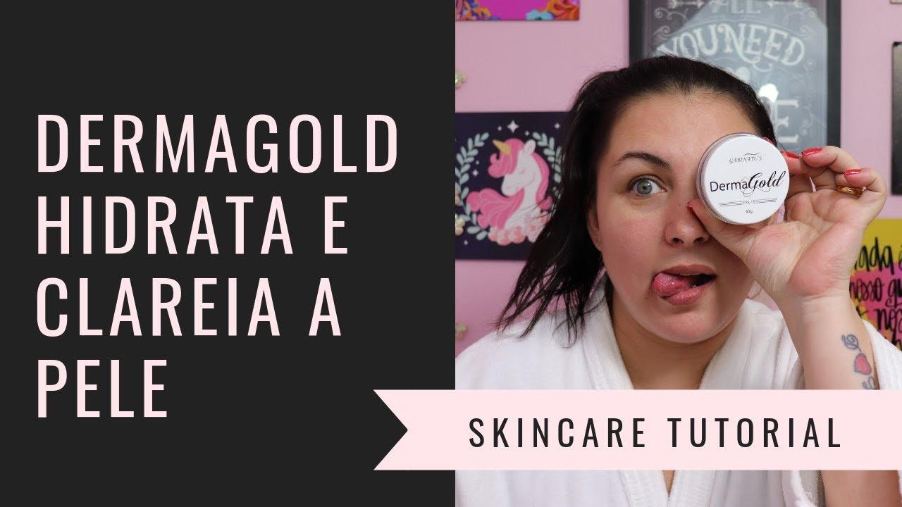Dermagold Hidrata E Clareia A Pele Youtube