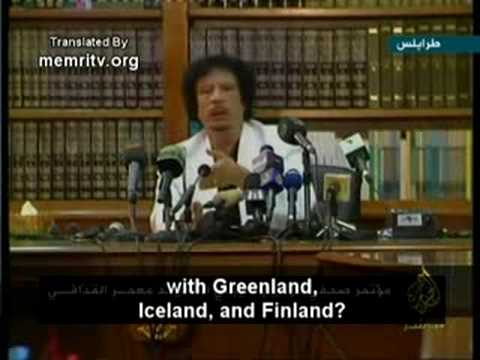 Qaddafi: Libyans Cannot Form a Union with Europeans Who Walk around Naked