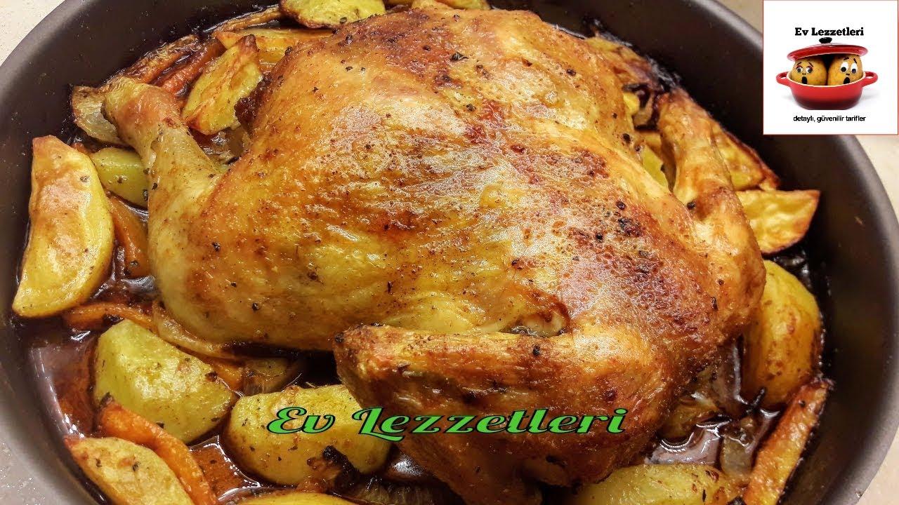 Fırında pişmiş bir tavuk tarifi