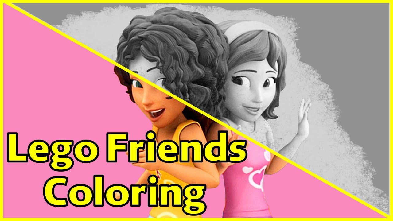 lego friends coloring pages friends are forever part 2 lego