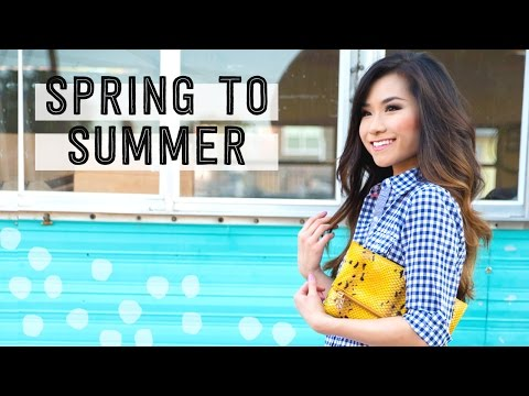 Spring to Summer Fashion Lookbook   Transitional Outfits   Kelly Wynne Handbags Collab   Miss Louie