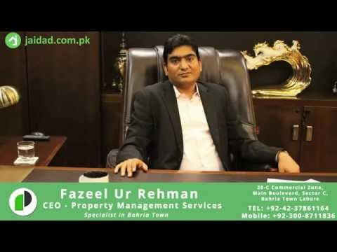 Expert Interview: Fazeel Ur Rehman of Property Management Services (PMS Bahria Town) - JAIDAD.COM.PK