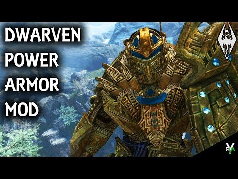 DWARVEN POWER ARMOR: Unique Armor Mod- Xbox Modded Skyrim Mod Showcase