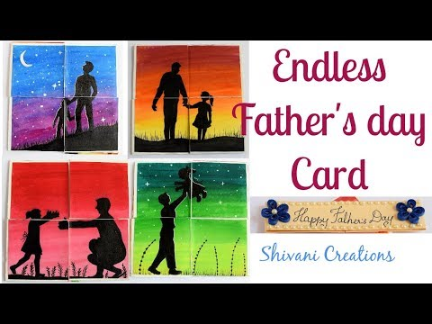 Endless Card for Father's Day/ DIY Never Ending Card