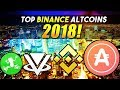 Top 5 BINANCE Crypto That Will Make You Rich In 2018 - %200+ Potential Altcoins!