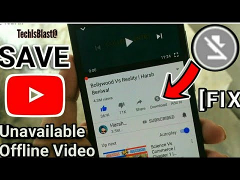 Save Unavalable Offline Youtube Video | Without App |techIsBlast