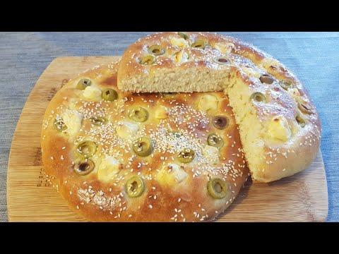 recette-de-pain-aux-olives-et-fromage-sans-pétrissage