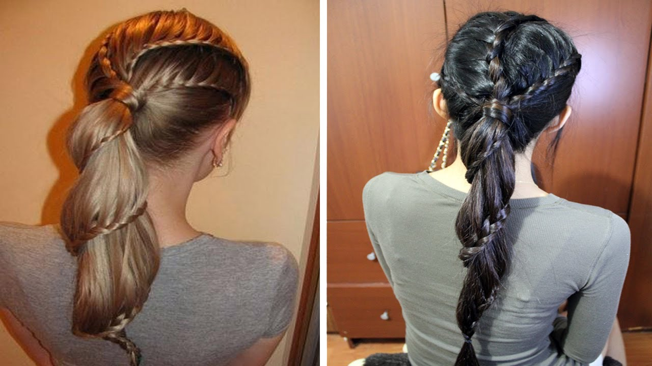 carousel winding lace braid ponytail