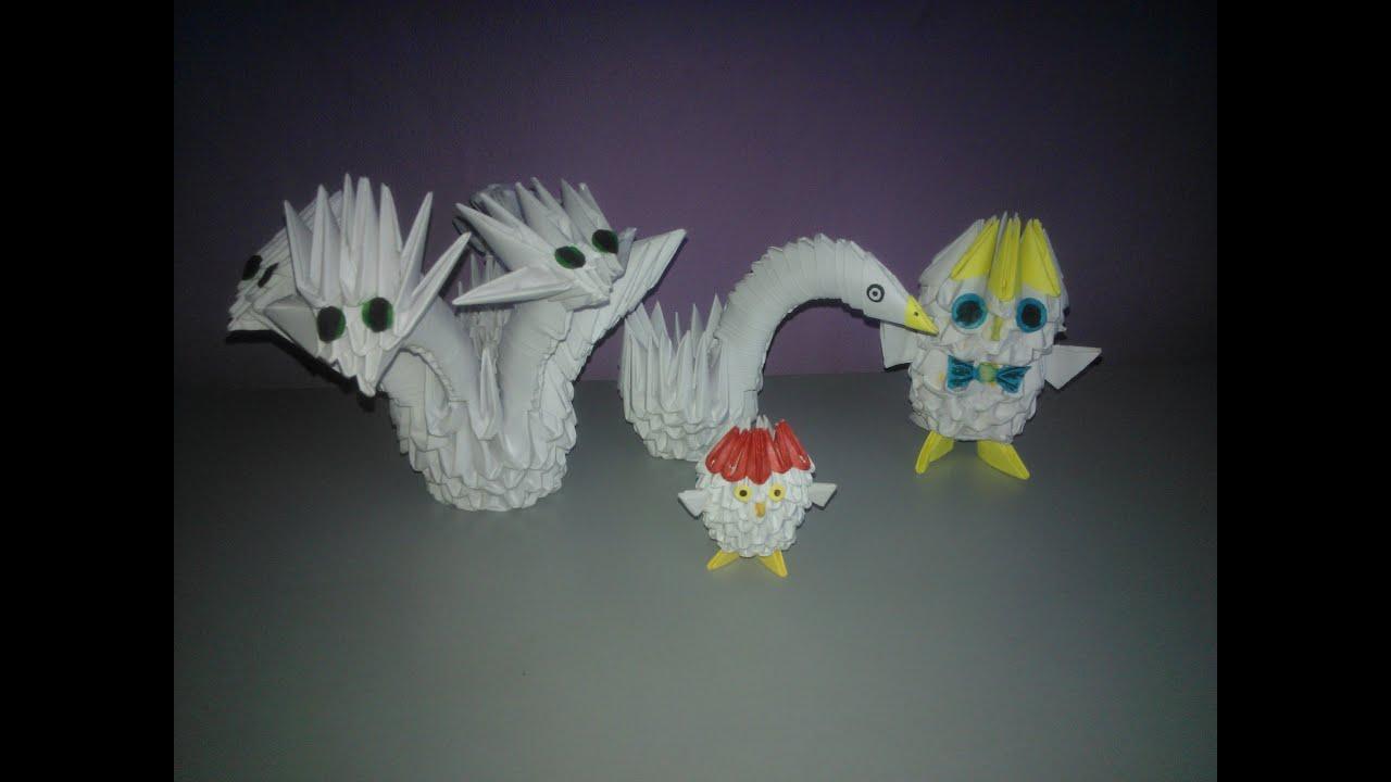 модульное оригами баран схема