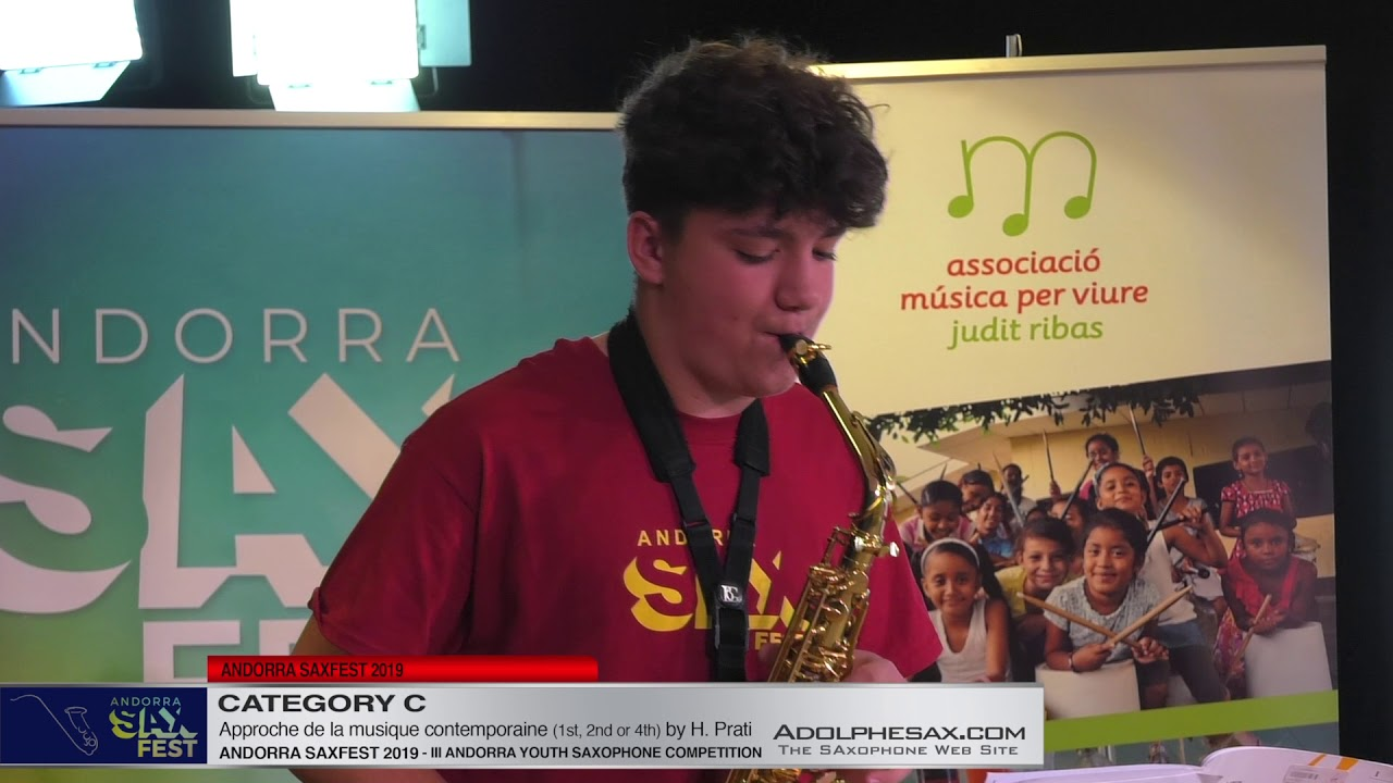 Andorra saxfest 2019 – Youth Competition – Cyril Morin – Approche de la Musique Contemp