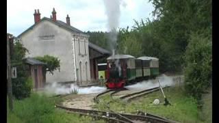 vapeur sur le train touristique du Bas Berry