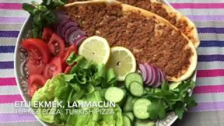 Etli ekmek, Lahmacun, Hoe maak je Turkse pizza, How to make Turkish pizza