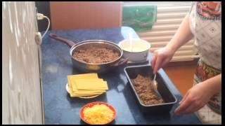 Лазанья из мясного фарша. Видео рецепт.