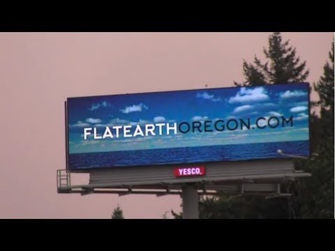 HISTORIC  FIRST EVER FLAT EARTH BILLBOARD IN OREGON  Salem, Oregon 2017 (Flat Earth Oregon Mirrored)