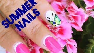 EASY BUTTERFLY | Nail Art Tutorial | Moon Manicure