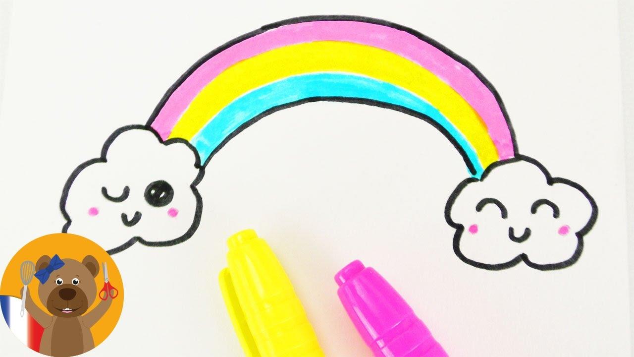 Dessiner Un Arc En Ciel Kawaii Diy Adorable Arc En Ciel Multicolore Carte D Anniversaire Youtube