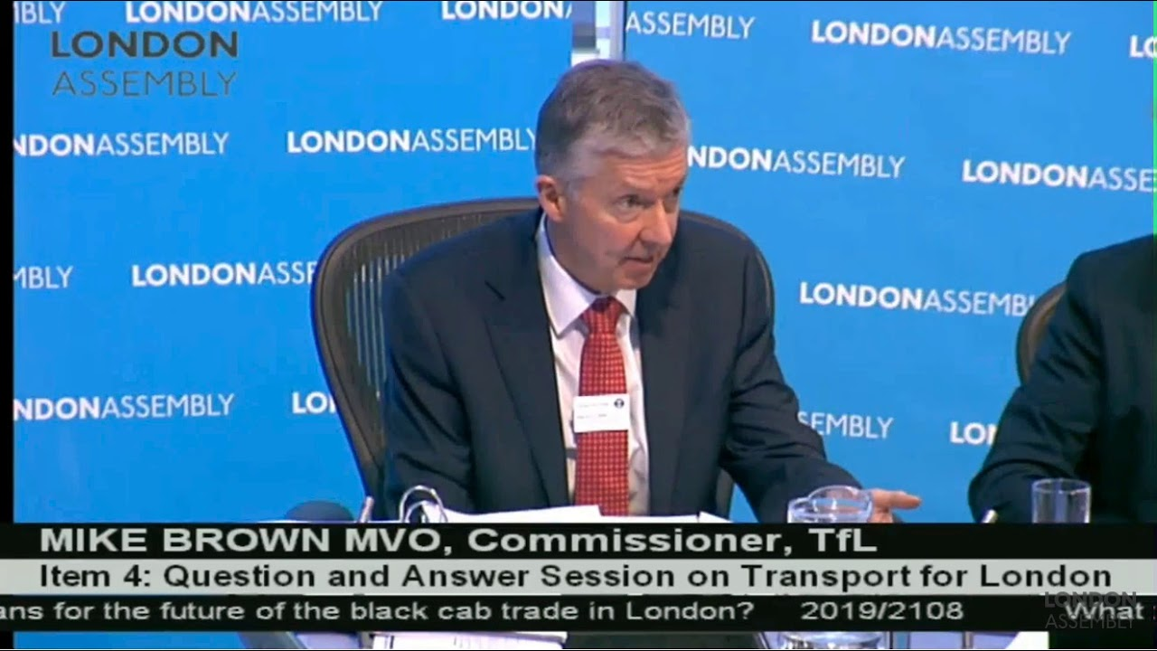 Kurten questions the mayor on the future of London's taxi trade