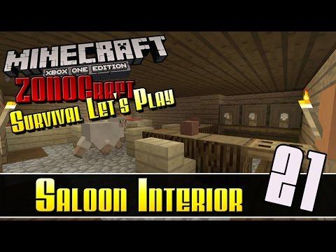Minecraft Survival Let's Play :: Saloon Interior :: E21