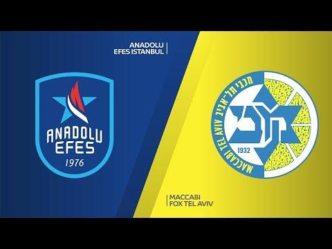 anadolu-efes-istanbul---maccabi-fox-tel-aviv-highlights-|-turkish-airlines-euroleague,-rs-round-16