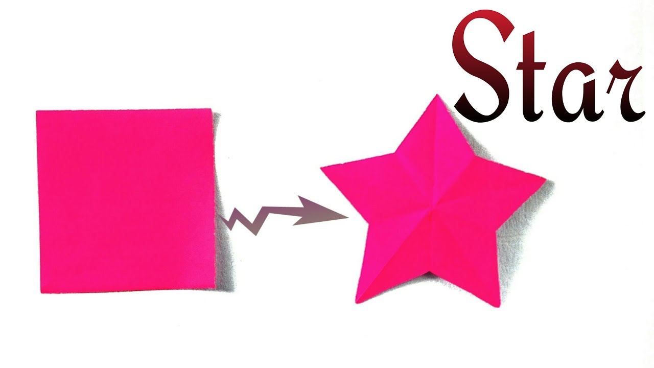 """How To Cut A """"Star"""" From A Square Paper"""
