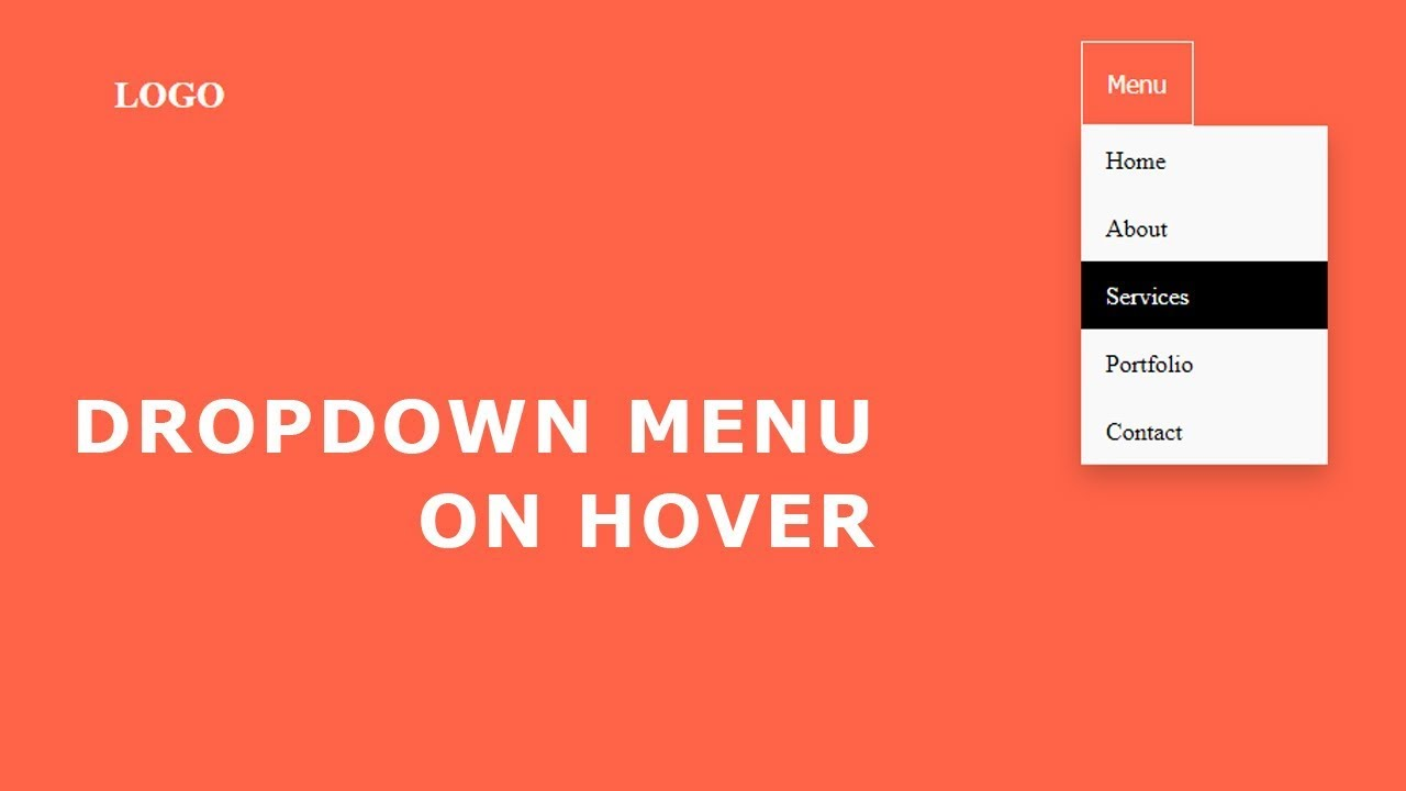 Dropdown Menu On Hover | Hover Dropdown Menu CSS
