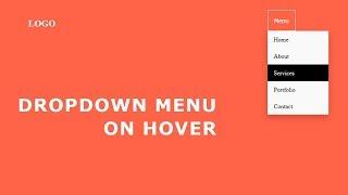 Dropdown Menu On Hover | Hover Dropdown  Menu CSS