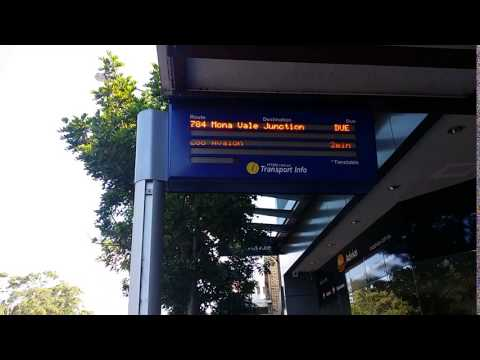 Transport Info (Transport for New South Wales) Real Time Bus Indicator at Mona Vale