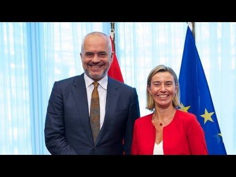 Report TV - Bruksel, Rama: Meritojmë patjetër negociatat, shqiptarët jo kriminelë