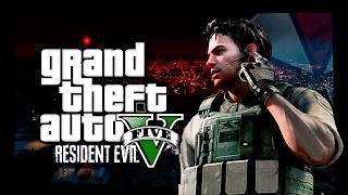 EL PRIMER ASALTO A LOS MERCENARIOS ! GTA V RESIDENT EVIL MOD ( Grand theft auto 5 )
