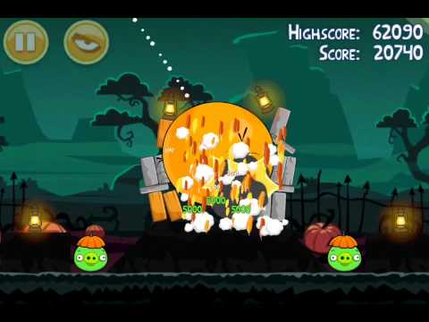 Angry Birds Seasons Ham'o'ween Level 1-4 - 3 Stars