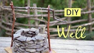 DIY Mini Well   How To Make Mini Well With Stones & Twigs