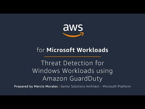 Threat Detection for Windows Workloads using Amazon GuardDuty