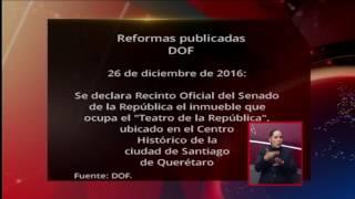 Reformas publicadas en el DOF en los últimos días de 2016 y principios de 2017