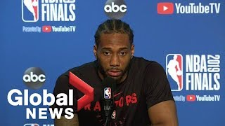NBA Finals: Kawhi Leonard musing on his legacy, reacts to Warriors minority owner shove on Lowry