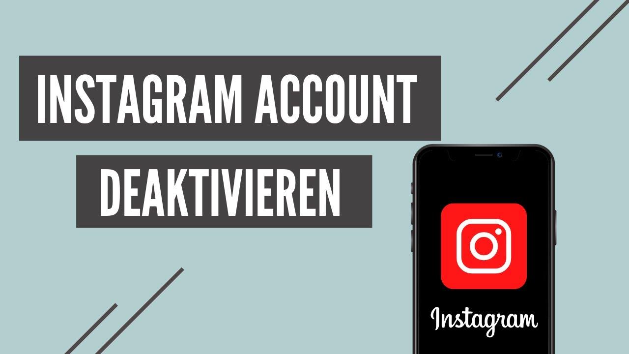 Account Deaktivieren