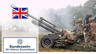 "Artillery of the NATO ""Spearhead Force"" demonstrates firepower - Bundeswehr"