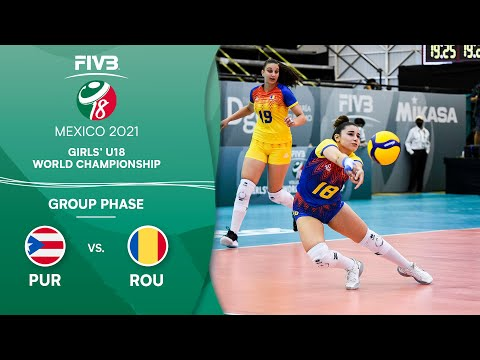 LIVE 🔴 PUR vs. ROU - Group Phase   Girls U18 Volleyball World Champs 2021
