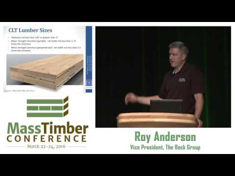 A CLT Manufacturing Plant: If You Build It, Will The Lumber Come? - Roy Anderson